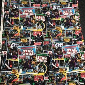 Star Wars Office - 2 Yards Star Wars Comic Book Cotton Fabric